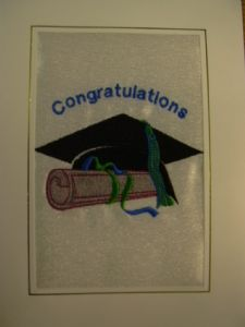 PERSONALISED GRADUATION CAP AND CERTIFICATE CARD